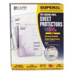 C-line Super Heavyweight Vinyl Sheet Protector, Clear, 11x8.5, 50/BX (CLI61013)