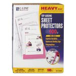 c-line-heavyweight-polypropylene-sheet-protector-non-glare-11-x-8-12-100bx-cli62028