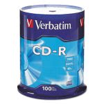 Verbatim CD-R Discs, 700MB/80min, 52x, Spindle, Silver, 100/Pack (VER94554)