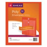 Smead Poly String & Button Envelope, Red, 5 Envelopes (SMD89547)