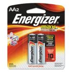 Energizer MAX Alkaline Batteries, AA, 2 Batteries/Pack (EVEE91BP2)