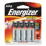 Energizer MAX Alkaline Batteries, AA, 8 Batteries/Pack (EVEE91MP8)