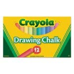 Crayola Colored Drawing Chalk, Assorted Colors 12 Sticks/Set (CYO510403)