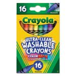 Crayola Washable Crayons, Regular, 8 Colors, 16/Box (CYO526916)