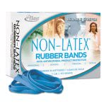 Latex Cyan Blue Antimicrobial Rubber Bands, Size #64, 1/4 lb Box (ALL42649)