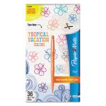paper-mate-flair-felt-tip-marker-pen-tropical-ink-36-markers-pap1928608