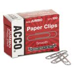 acco-smooth-economy-paper-clip-steel-wire-jumbo-silver-100box-10-boxespack-acc72580