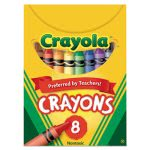 Crayola Classic Color Pack Crayons, Tuck Box, 8 Colors/Box (CYO520008)