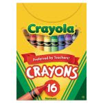 Crayola Classic Color Pack Crayons, Tuck Box, 16 Colors/Box (CYO520016)