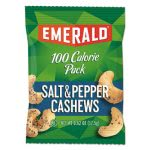 Emerald 100 Calorie Pack Nuts, Salt & Pepper Cashews, 7 Bags (DFD33725)