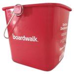 boardwalk-kleen-pail-sanitizing-bucket-6-qt-red-plastic-bwkkp196rd