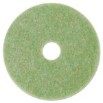 "3M Low-Speed TopLine Autoscrubber Floor Pads 5000, 17"", Green, 5 Pads (MMM18049)"