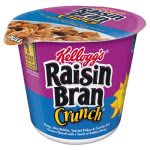 Kellogg's Breakfast Cereal, Raisin Bran Crunch, Single-Serve 2.8oz Cup, 6 Cups/Box (KEB01474)