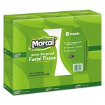 Marcal Pro Premium Recycled 2-Ply Facial Tissues, 6 Cube Boxes (MRC4034)