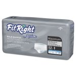 medline-fitright-active-male-guards-6-x-11-white-52-pack-miimscmg02