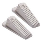 Master Caster Big Foot Doorstop, No Slip Rubber Wedge, 2 Doorstops (MAS00975)