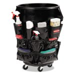 rubbermaid-brute-caddy-bag-12-pockets-black-6-caddies-rcp1867533ct