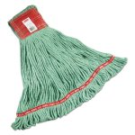 Rubbermaid A153 Web Foot Wet Mop Heads, Green, Large, 6 Mops (RCPA153GRE)