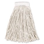 Rubbermaid V157 Cotton Mop Heads, 20-oz, Cut-End, White, 12 Mops (RCPV157)