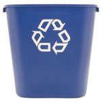 Rubbermaid Deskside 7 Gallon Recycling Can, Blue (RCP295673BE)