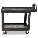 rubbermaid-heavy-duty-medium-2-shelf-utility-cart-black-rcp452088bk