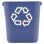 Rubbermaid 295573 Deskside 3.5 Gallon Recycling Container, Blue (RCP295573BE)