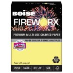 Boise Fireworx Colored Paper, 8-1/2 x 11, Canary, 500 Sheets (CASMP2201CY)