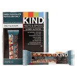 Kind Nuts and Spices Bar, Dark Chocolate/Nuts/Sea Salt, 12 Bars (KND17851)