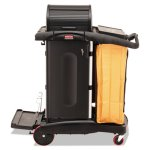 Rubbermaid 9T75 High Security Cleaning Cart w/Vinyl Bag, Black (RCP 9T75)