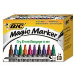 Bic Low Odor & Bold Writing Asstd Dry Erase Marker, 24 Markers (BICGELITP241AST)