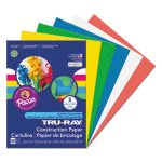 Pacon Construction Paper, 76 lbs., 9 x 12, Assorted Primary, 50 Sheets (PAC6572)