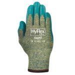 Ansellpro HyFlex Medium-Duty Assembly Gloves, Gray/Green, Size 9 (ANS115019)