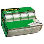 "Scotch Magic Tape & Refillable Dispenser, 3/4"" x 300"", 1"" Core, 4/Box (MMM4105)"