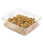 Rubbermaid 6302 Space Saving Square Container, 2 Quarts, Clear (RCP 6302 CLE)