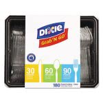 Dixie Heavyweight Clear Knives/Spoons/Forks, 180/Pack, 10Pk/Ctn (DXECH0369DX7)