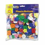 Chenille Kraft Button Assortment, 1 lbs., Assorted Colors/Sizes (CKC6120)