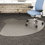 SuperMat Frequent Use Chair Mat, Straight, 60x66 w/Lip, Clear (DEFCM14003K)