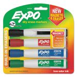 Expo Magnetic Dry Erase Marker, Chisel Tip, Assorted, 4/Pack (SAN1944728)