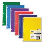 Mead Spiral Bound College Rule Notebook, 8-1/2 x 11, White (MEA06622)