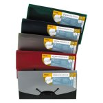 Mead Expanding File Folder with Cover, 13 Pockets, Check, Assorted (MEA35904)