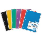 Mead Spiral Bound Notebook, Wide/Margin Rule, 1 Subject 100 Sheets (MEA05514)