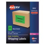 avery-neon-shipping-label-laser-5-1-2-x-8-1-2-neon-green-200-box-ave5952