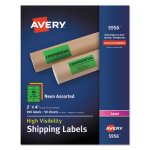 avery-5956-high-visibility-neon-shipping-labels-2-x-4-500-labels-ave5956