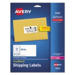 Avery Shipping Labels with TrueBlock Technology, 2 x 4, White, 250/Pk (AVE5263)