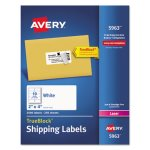 "Avery 5963 White Shipping Labels, 2"" x 4"", 2,500 Labels (AVE5963)"