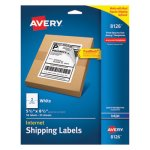 "Avery 8126 White Internet Shipping Labels, 5-1/2"" x 8-1/2"", 50 Labels (AVE8126)"