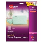 "Avery 5667 Clear Return Address Labels, 1/2"" x 1-3/4"", 2,000 Labels (AVE5667)"