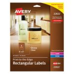 Avery Rectangle Easy Peel Labels, 2 x 3, Clear, 80/Pack (AVE22822)