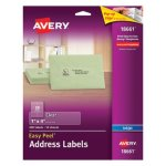 Avery Easy Mailing Labels for Inkjet Printers, Clear, 200/Pack (AVE18661)
