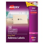 "Avery 5660 Easy Peel Clear Address Labels, 1"" x 2-5/8"", 1,500 Labels (AVE5660)"